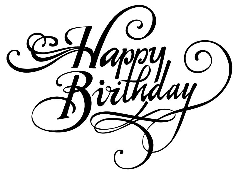 Happy birthday font clipart best bd