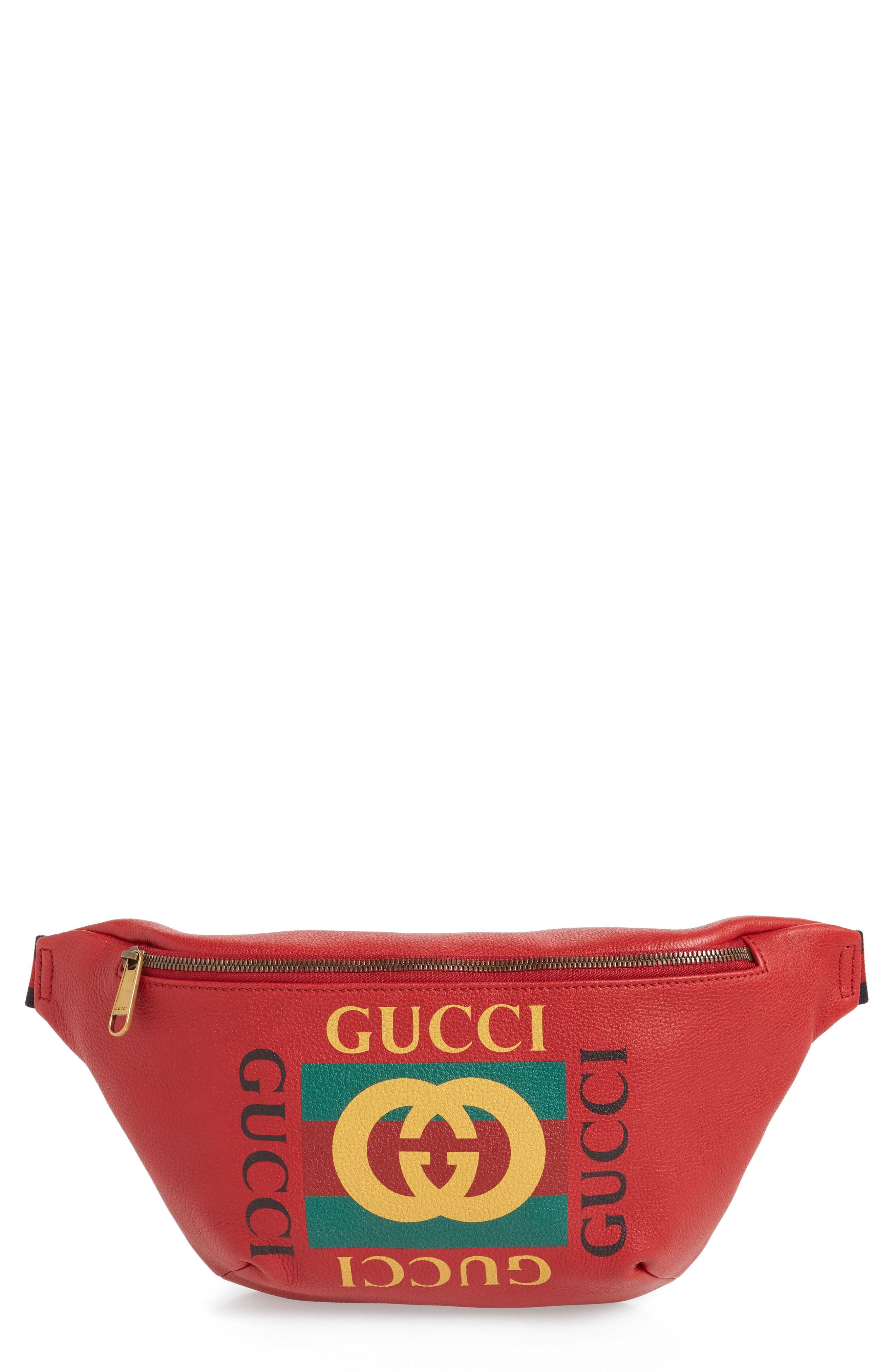 0ffdd99cc7b2b8 GUCCI FAKE LOGO WAIST PACK - RED. #gucci #bags #leather #belt bags ...