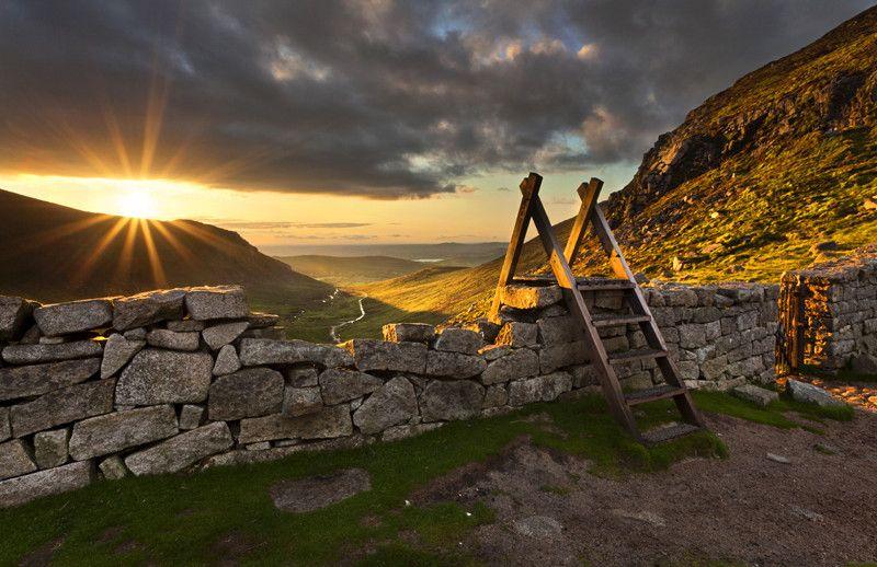 Sunset From The Hares Gap Irish Landscape Landscape Photography Landscape
