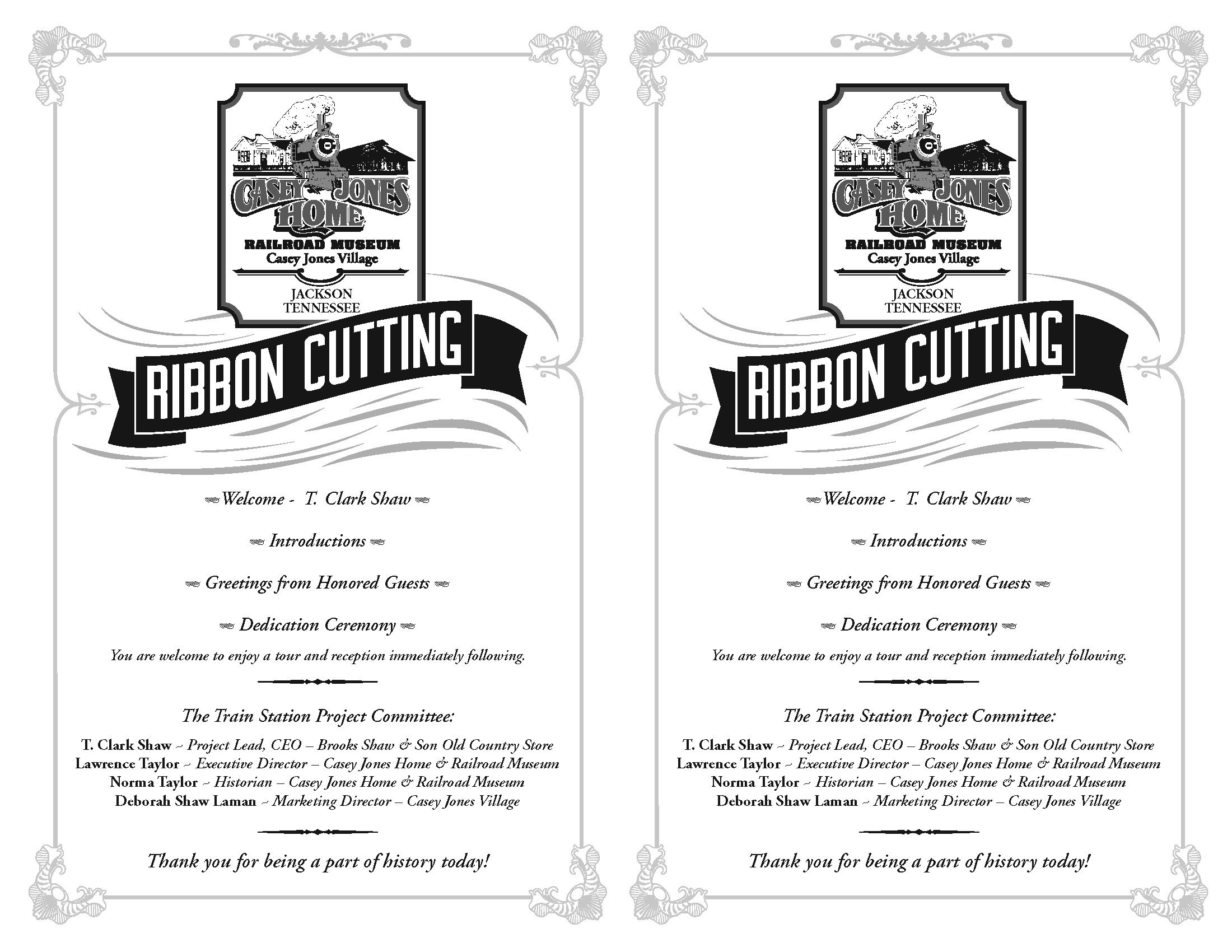 ribbon cutting ceremony program template program for the. Black Bedroom Furniture Sets. Home Design Ideas