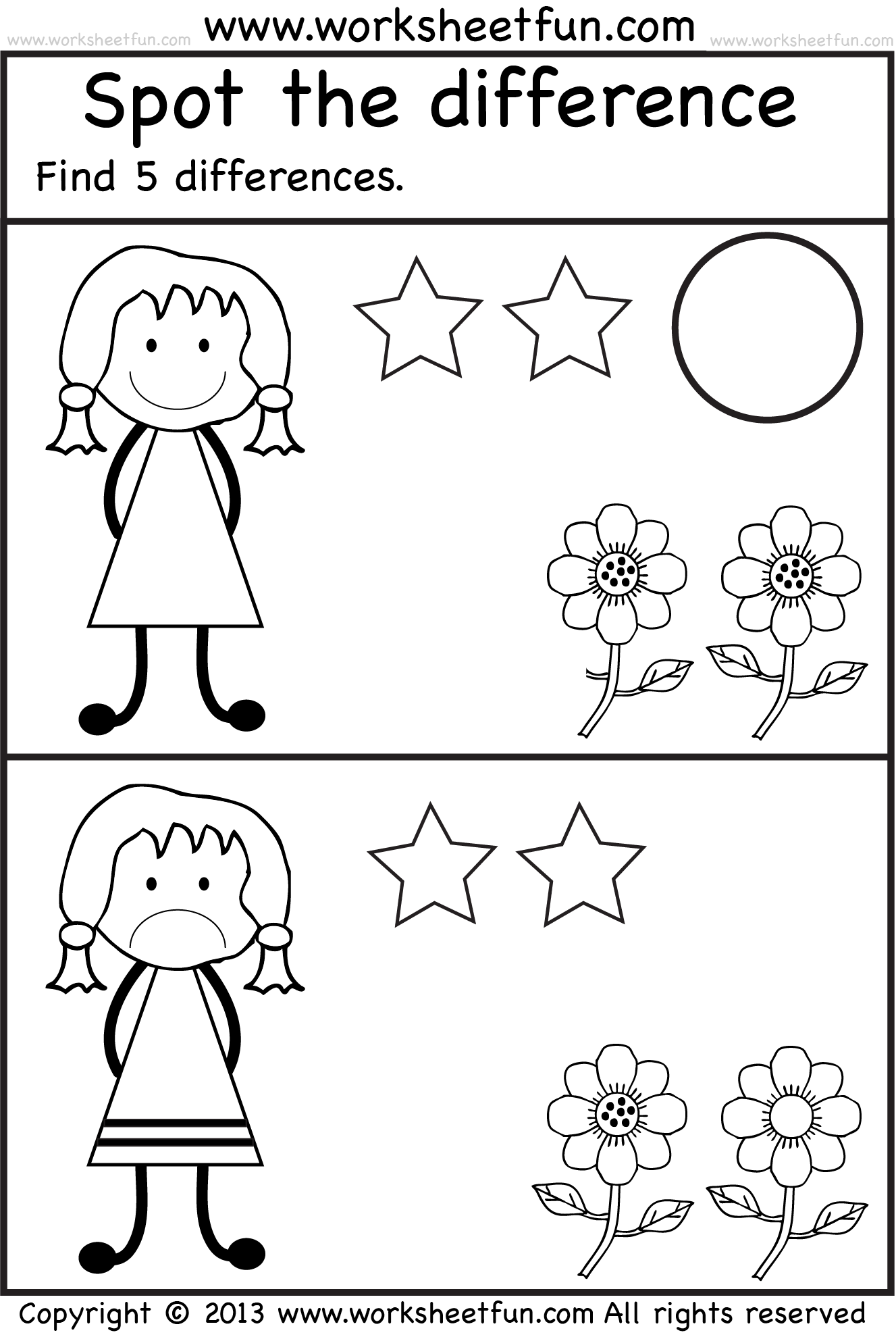 Spot The Differences Preschool Worksheets Free Preschool