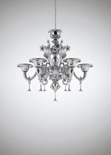 classic style chandelier (murano blown glass) veneziano luxury s6, Innedesign
