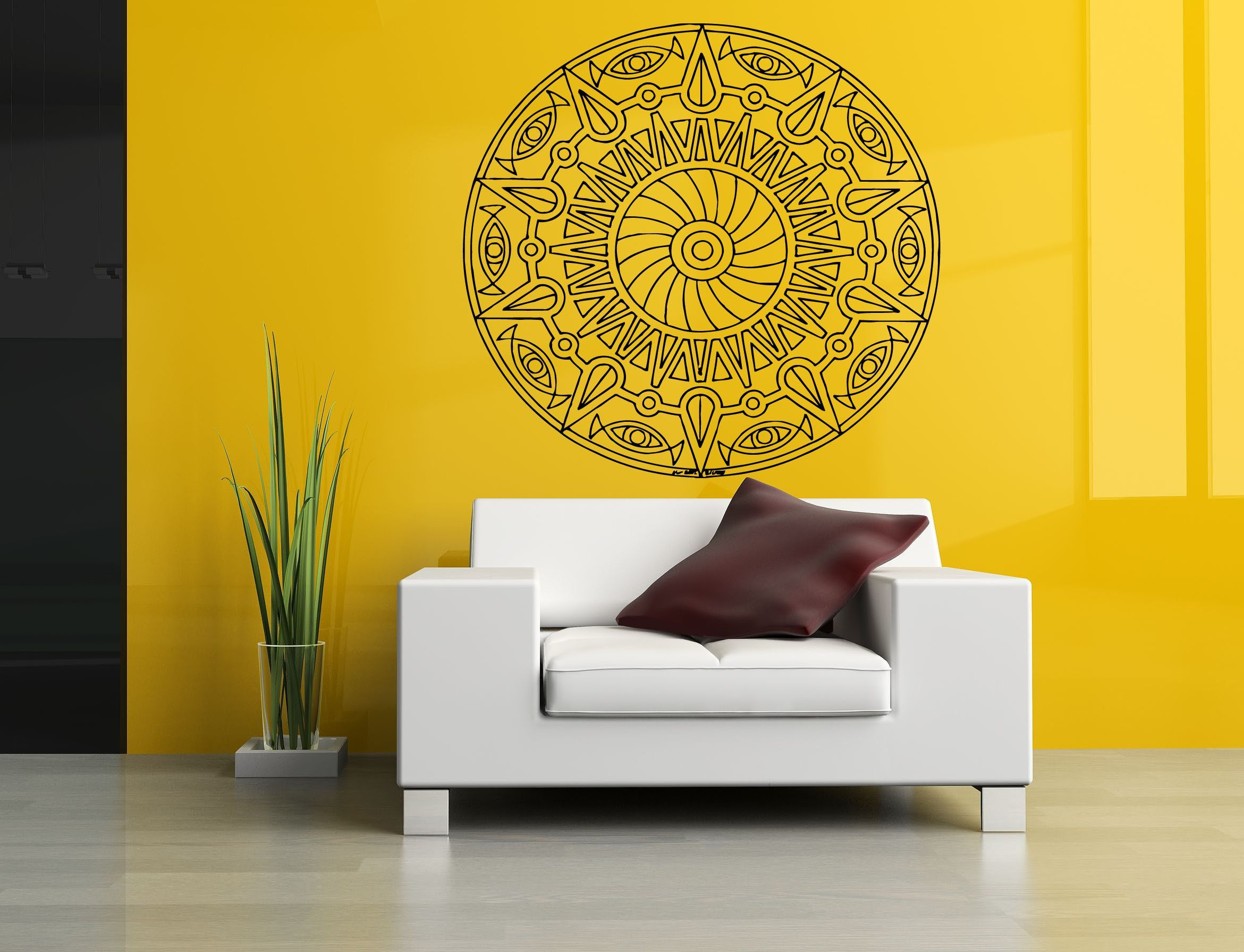 Wall Room Decor Art Vinyl Sticker Mural Decal Mandala Abstract Big ...