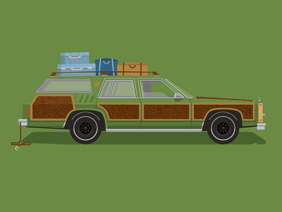 Christmas Vacation Car.National Lampoon S Family Vacation Graphic Digital Art