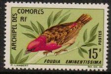 COMORES SG62 1967 15f BIRDS MNH