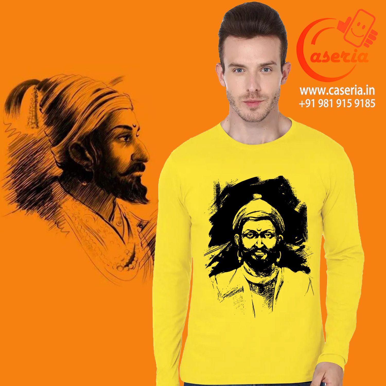 Shivaji Printed T-Shirt online at best price in India. Round neck, 100% Cotton, best quality. #shivajitshirt #printedTshirt #printedtshirt #shivaji #cottontshirt #customprintedtshirt