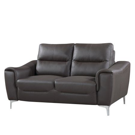Rachel Collection 1 Piece Modern Leather and Fabric Upholstered