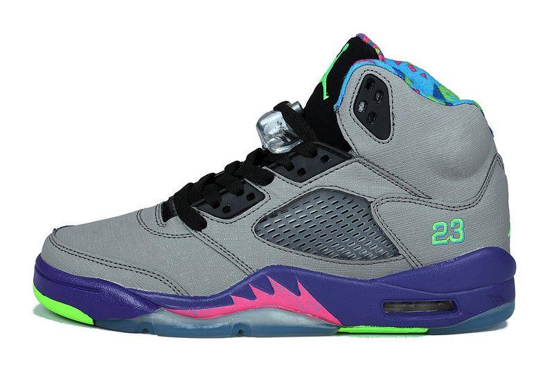 women size 621958 090 air jordan 5 bel air cool grey  court purple