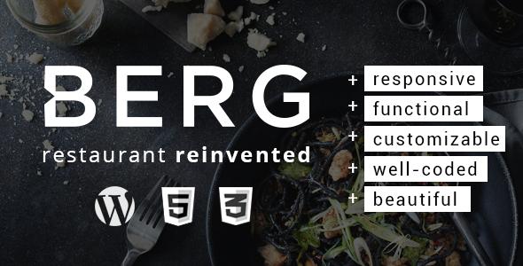 BERG - Restaurant WordPress Theme