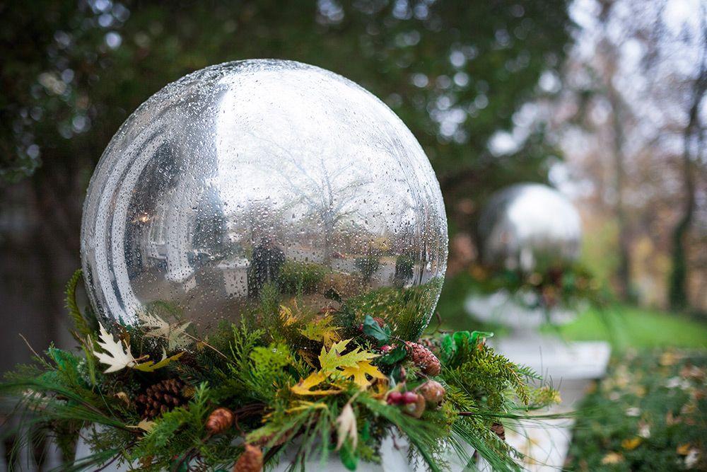 Winterdeko Garten: Außendeko aus Naturmaterialien für Hauseingang #winterdekodraussen