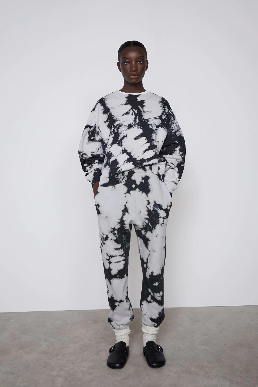 Tie Dye Jogger Pants Zara United States Tie Dye Sweatshirt Tie Dye Clothing Brand [ 1500 x 1000 Pixel ]