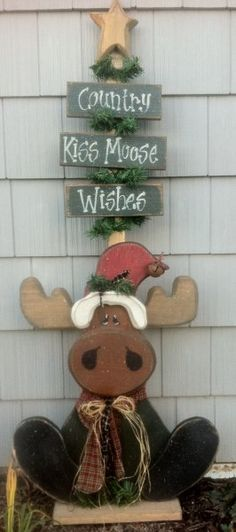 PatternMart  PatternMart Country Kiss Moose Wishes crafts - moose christmas decorations