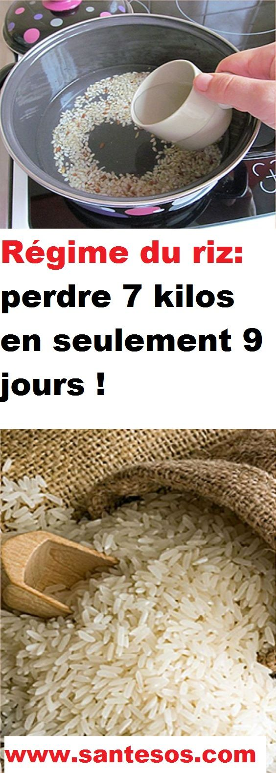 Régime du riz: perdre 7 kilos en seulement 9 jours