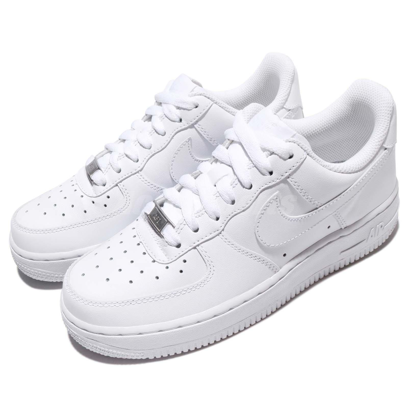 7ec82b19fde Wmns Nike Air Force 1 07 Whiteout Womens Classic Shoes Af1 Sneakers 315115- 112