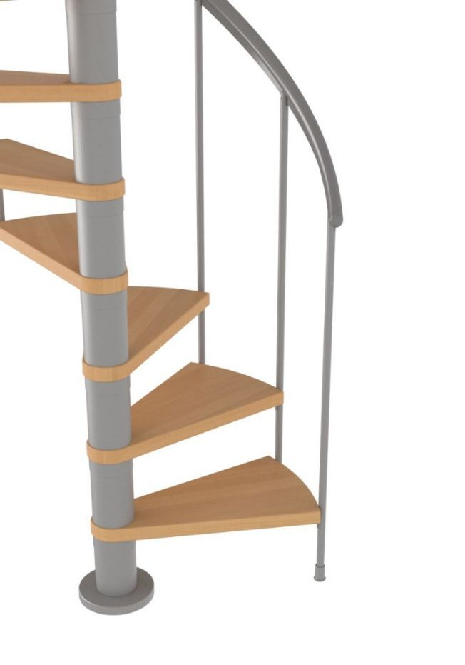 Best Dolle Montreal Grey Spiral Stair Kit 1200Mm Solid 400 x 300