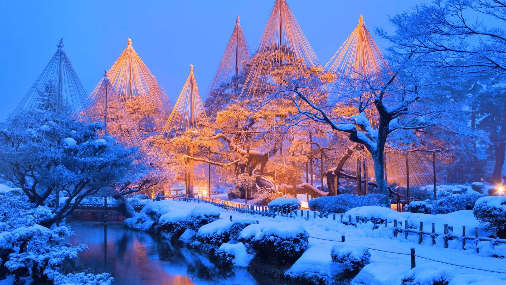 12月1日、兼六園のライトアップ