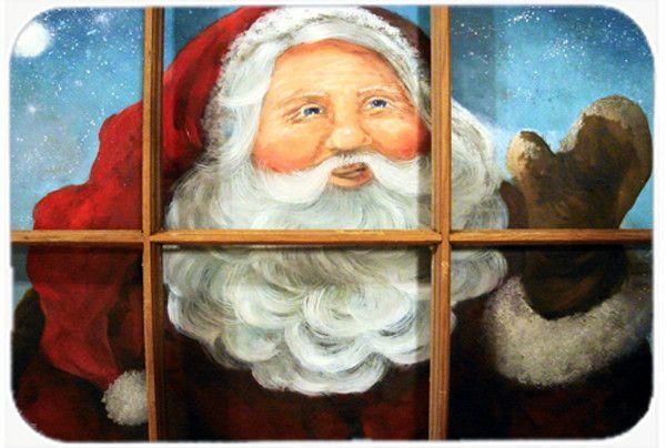 Kindly Visitor Santa Claus Christmas Glass Cutting Board