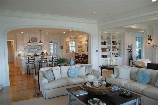 Living Room Kitchen kitchen semi-open to family room | dream home | pinterest
