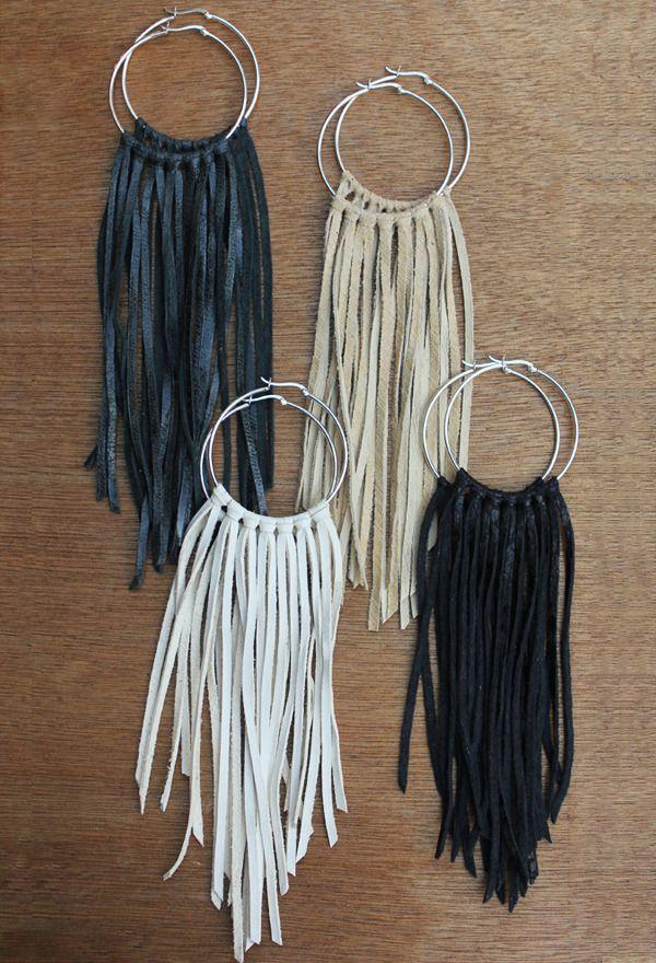 Photo of pictures of handmade hoop earrings | fringe hoop earrings 48 00 these sterling s…