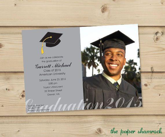 Photo Graduation Invitation High School By Thepapershamrock