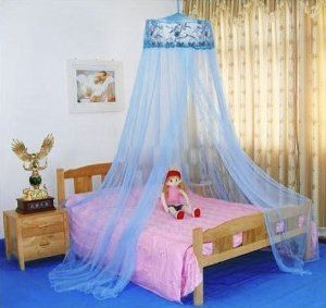 Housweety Blue New Round Sequins Curtain Dome Bed Canopy Netting Mosquito Net Main MaterialGauze;Main ColorBlue Care Machine wash gentle Size Sleeping ... & Bed canopy | lena | Pinterest | Canopy