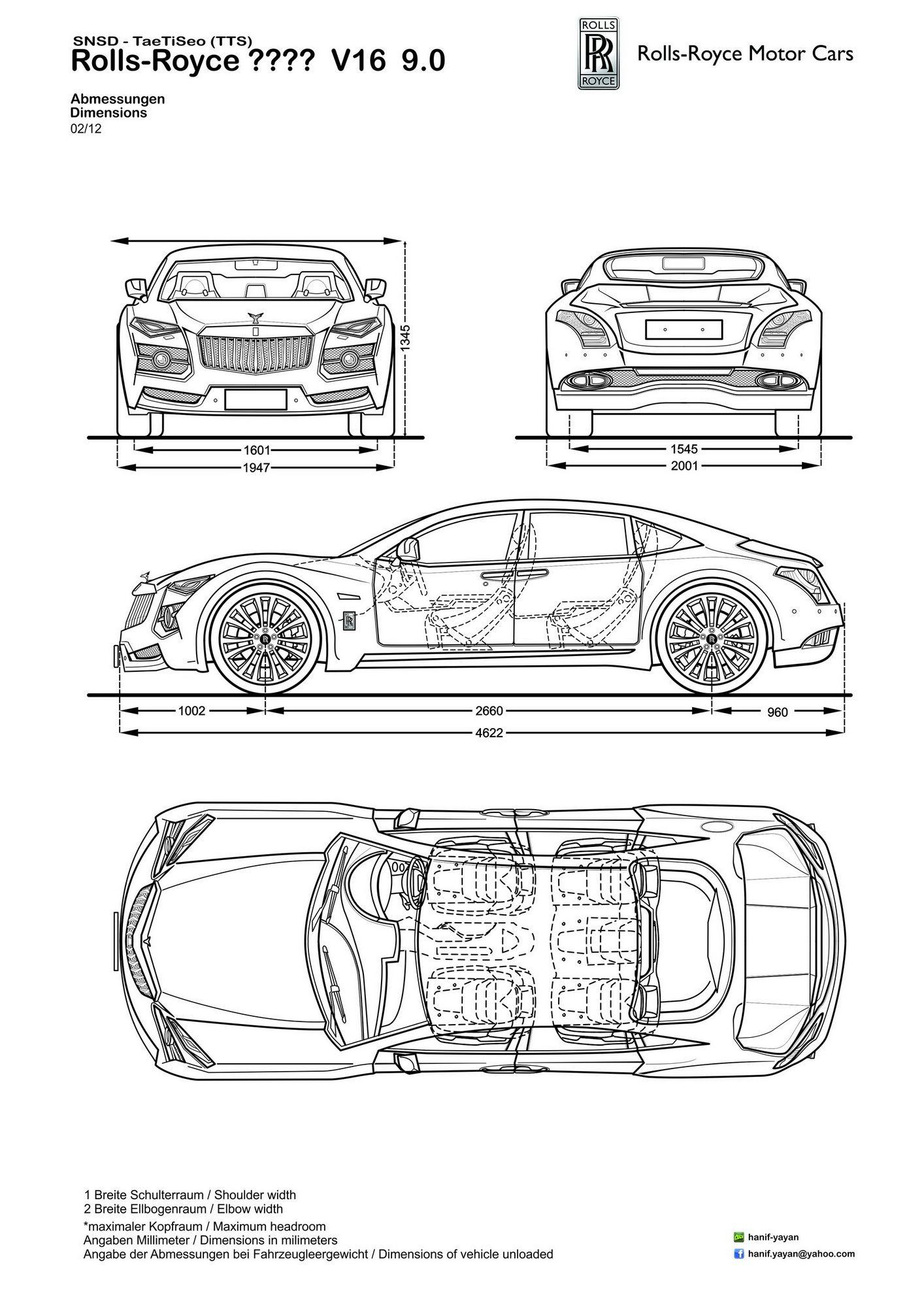 Rolls Royce V16 9 0 Limo Ver Design Blueprints By Hanif Yayan On Deviantart