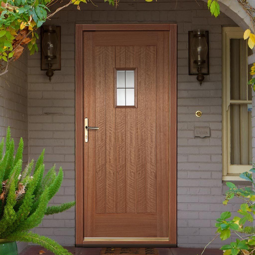 Beau Hillingdon Lead Light External Hardwood Door With Bevel Tri Glazing.  #externalhardwooddoor #glazedtraditionaldoor #simpletraditionaldoor