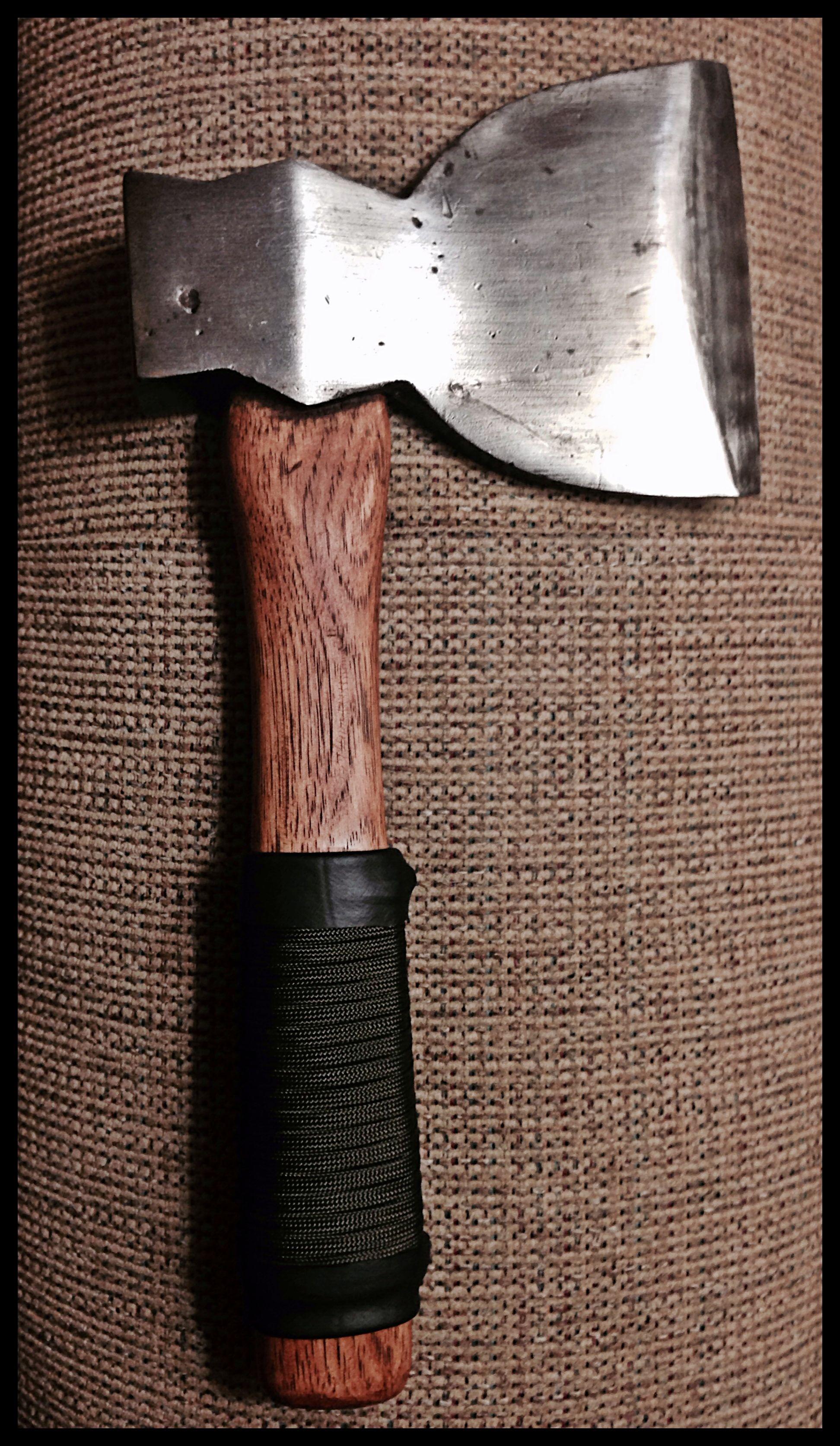 Vintage Hewing Axe By John Black