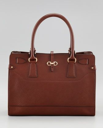 a41040130f1b Briana Leather Tote by Salvatore Ferragamo. This Color or Charcoal ...