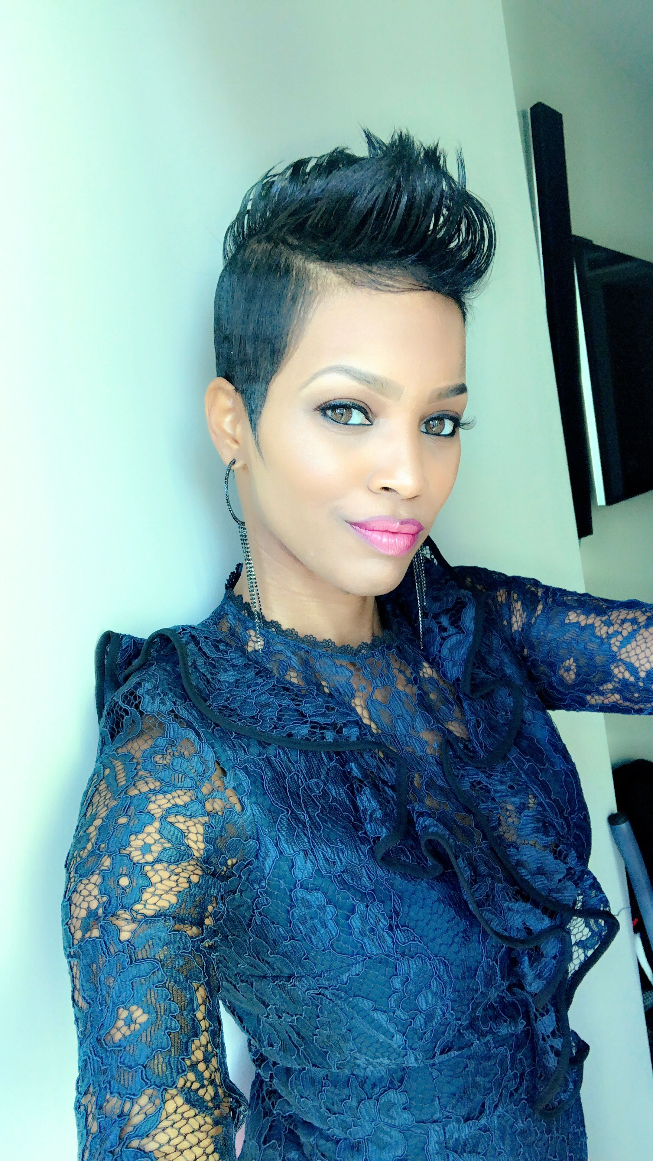 Hair u makeup is real cute mohawks u short cuts for black women