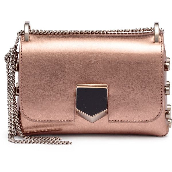 Jimmy Choo London Lockett Mini metallic rose gold leather bag SpnbDP