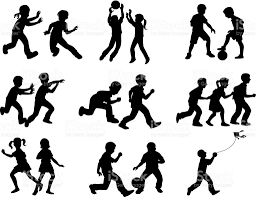 Image Result For Silhouette Of Kids Playing Kids Silhouette Kids Playing Children