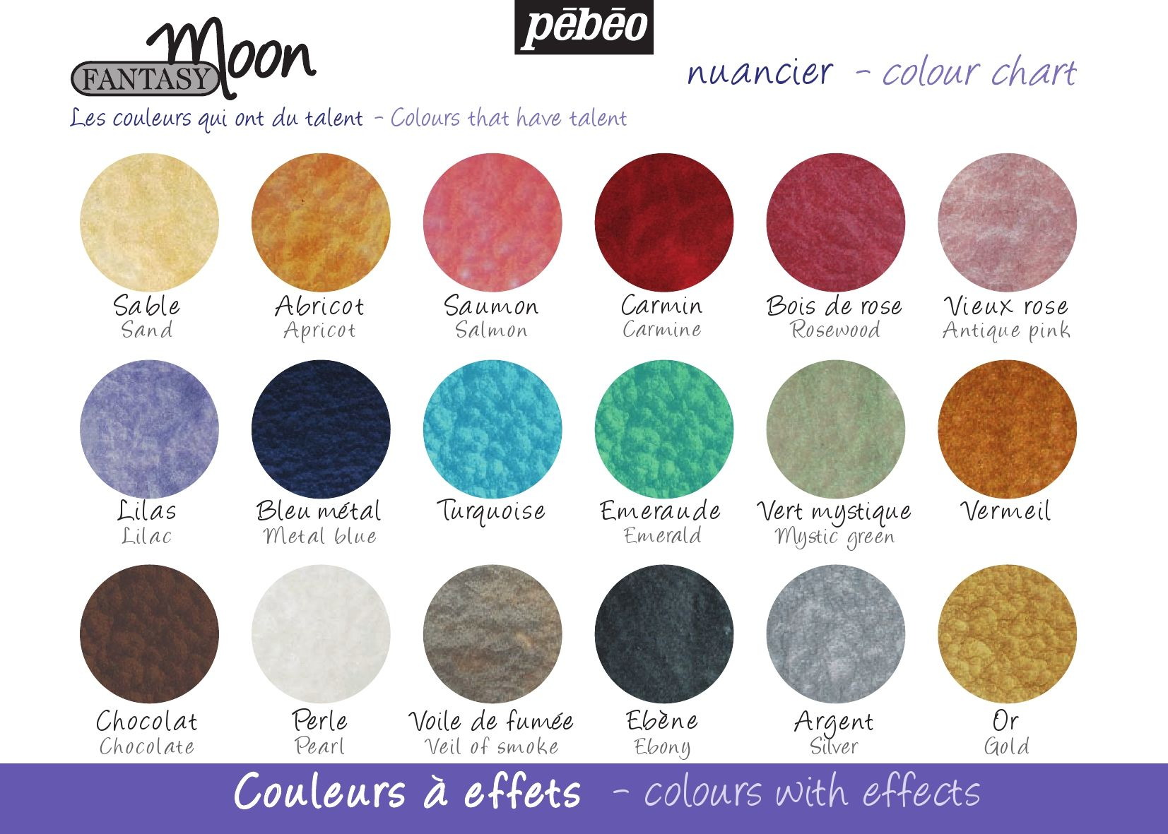 Color Chart Fantasy Moon Pebeo Jewelry Making Glass Moon Painting Pebeo Paint