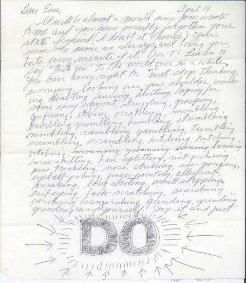 Sol LewittS Advice To Eva Hesse DonT Worry About Cool Make
