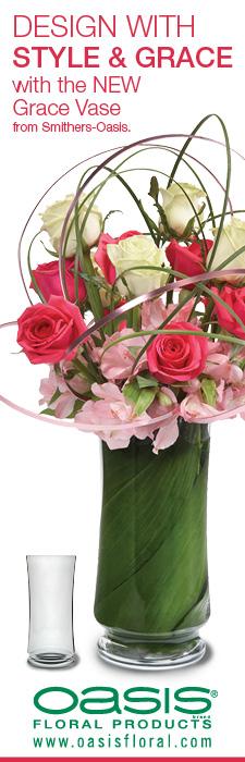 Fabulous new vase from Oasis - Grace vase... so many ways to create beauty.