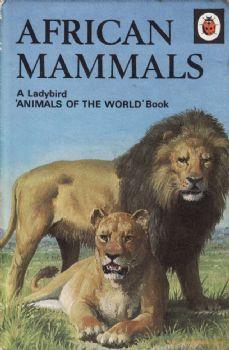AFRICAN MAMMALS Vintage Ladybird Book Animal Series 691 Matte Hardback First…
