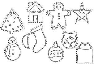 picture relating to Cookie Template Printable named Xmas Cookie Templates for young children in direction of coloration and lower out