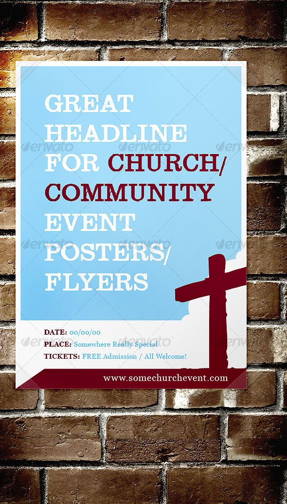 Church  Community Event Poster  Flyer  Template Indesign