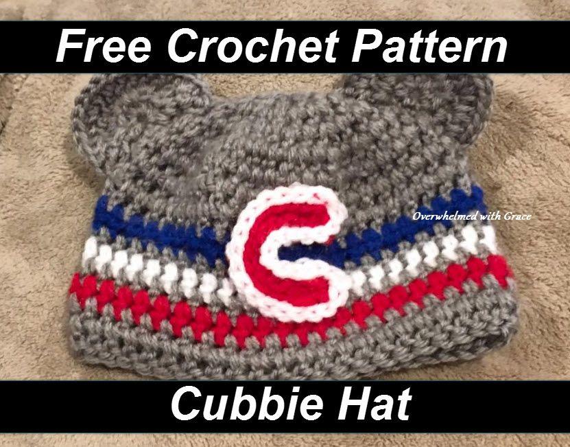 20872269d88 Cubs free hat pattern! cubbie
