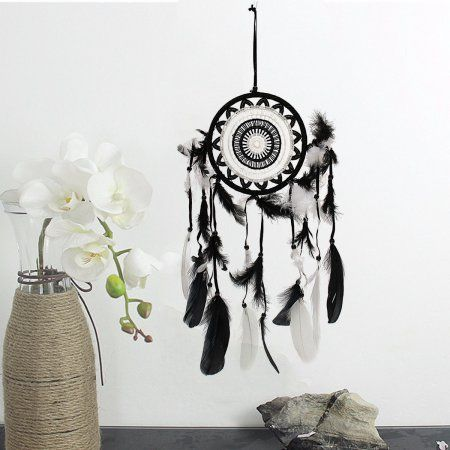 Walmart Dream Catcher Endearing Black &white Dream Catcher Feather Wall Hanging Yingyang Taiji 2018