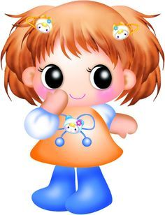 Big Eyes Girl Clipart Cartoon Clip Art Little Girl Cartoon