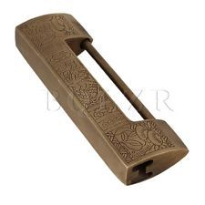 Antique Hasp Padlock Latch Chinese Carved Hardware for Jewelry Box