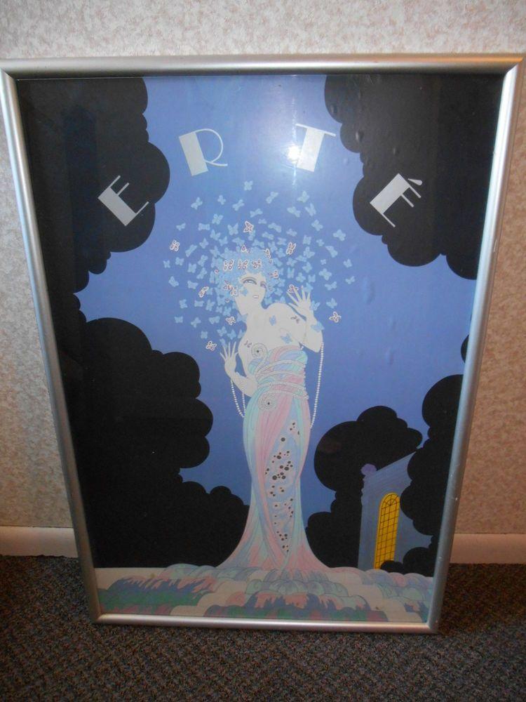 Erte Fantasia Framed Art Deco Style Poster Rare in Posters | eBay