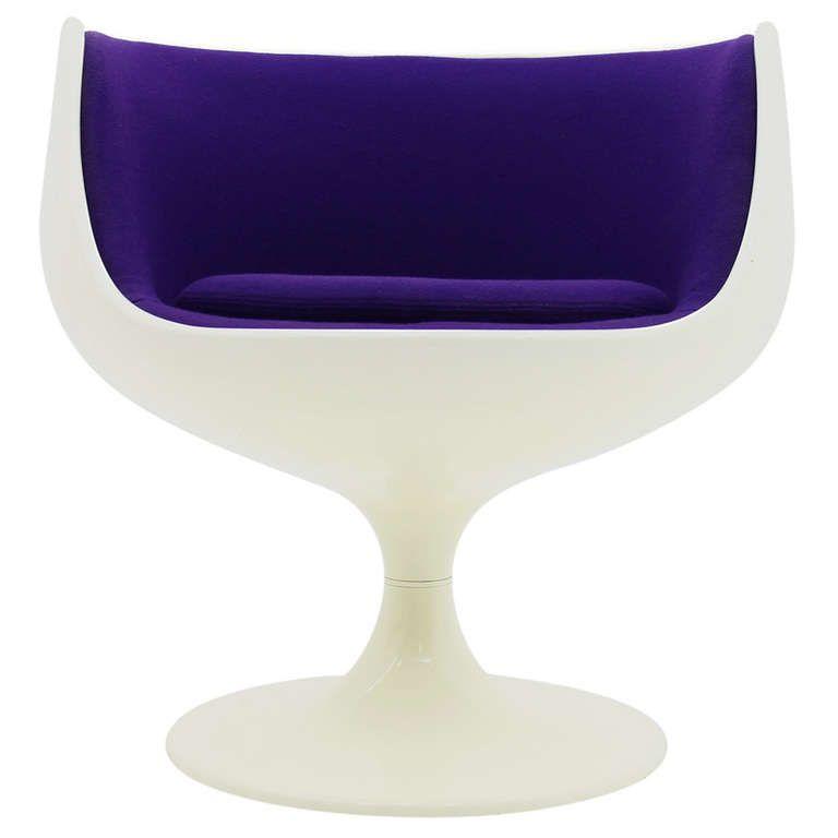 Original Eero Aarnio Cognac Lounge Chair, ASKO