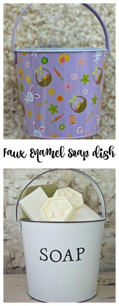 Faux Enamel Soap Dish Thrift Store Upcycle Décoration dintérieur et Surc Faux Enamel Soap Dish Thrift Store Upcycle Décoration dintérieur et S...