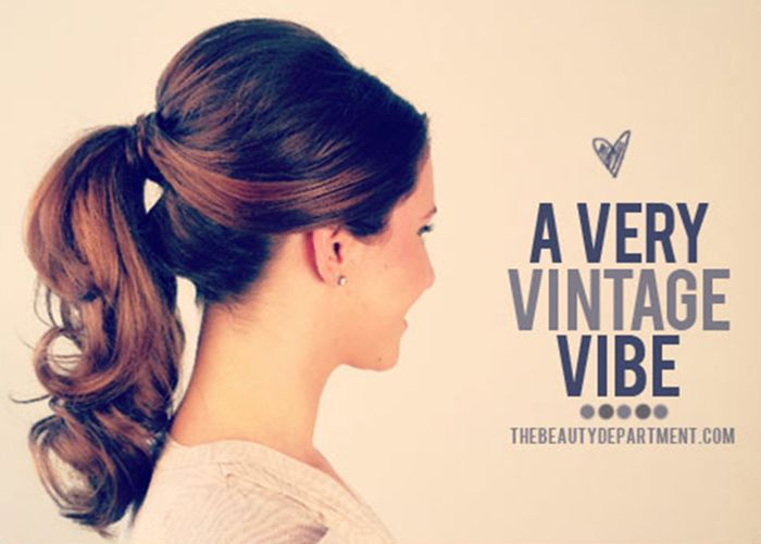 1950's inspired ponytail tutorial and other perfect ponytial how-to's