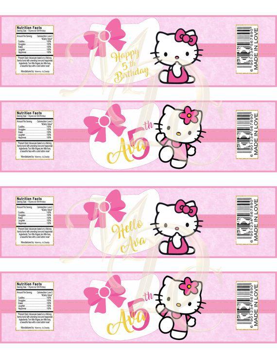 Hello Kitty Water Bottle LabelsHello KittyBottle