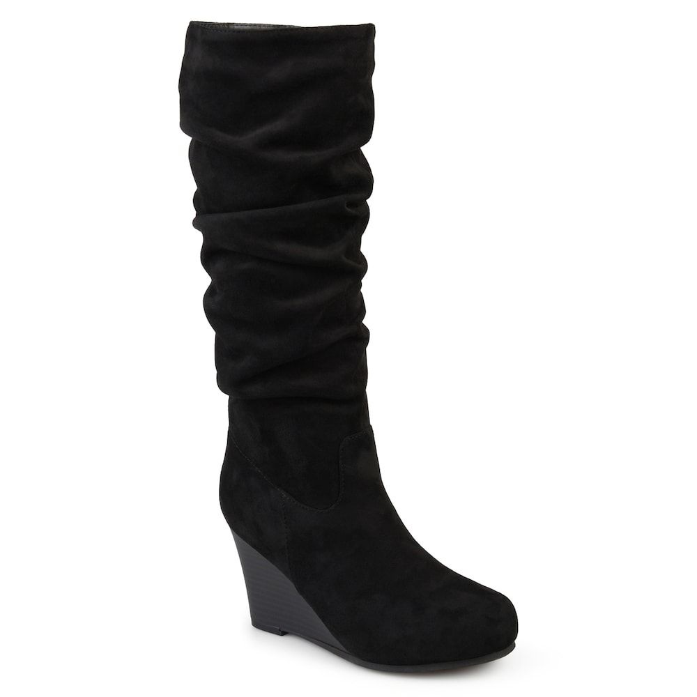 Journee Collection Haze ... Women's Wedge Slouch Knee High Boots VgrN6R7