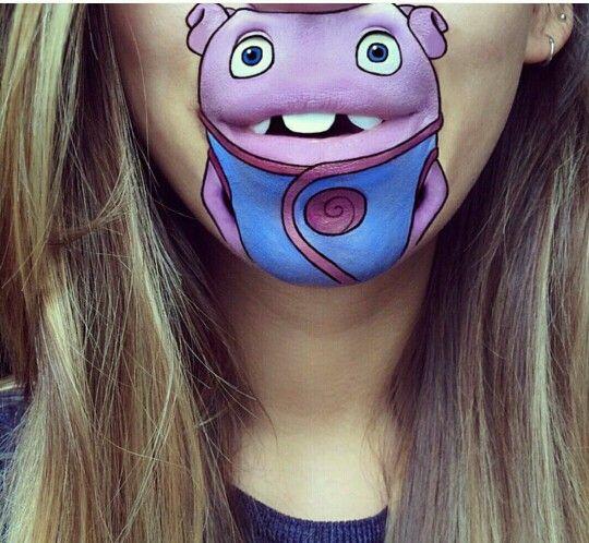 Okul öncesi Yüz Boyama Mouth Painting Art Ve Lip Art