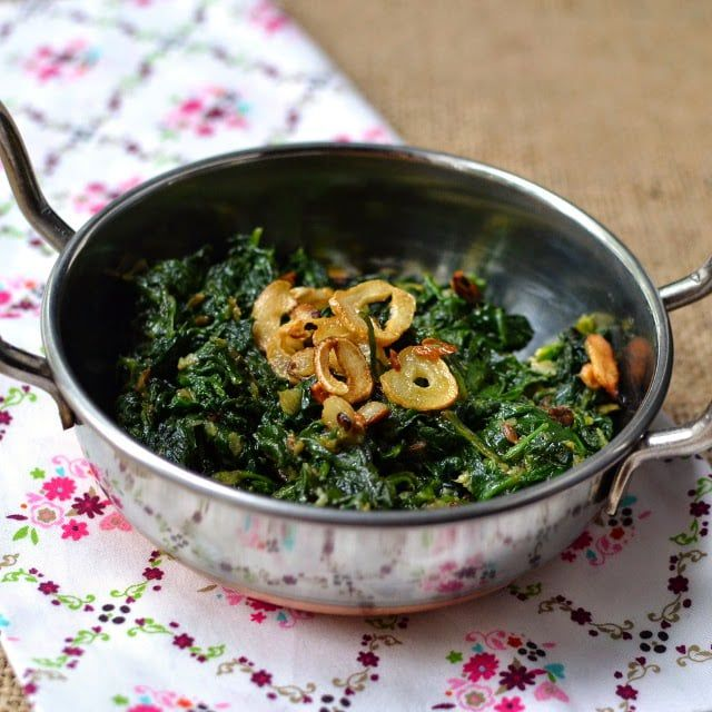 Nepali Curried Spinach